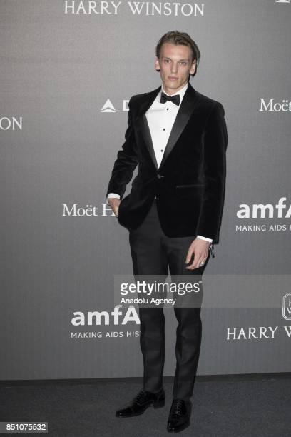 Jamie Cambell Brown attends the red carpet of amfAR Gala Milan at La Permanente in Milano Italy on September 2017
