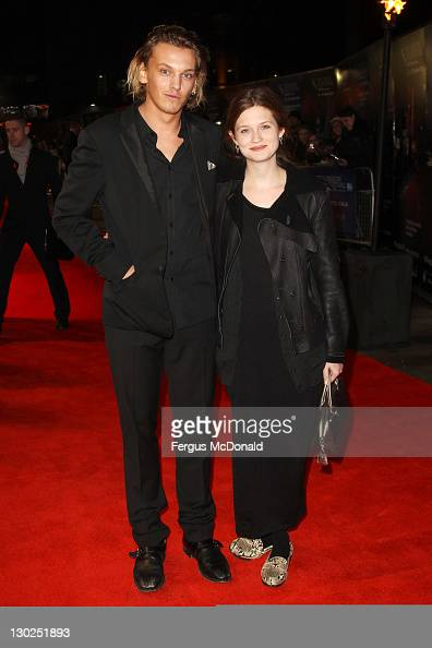 Jamie Campbell Bower and Bonnie Wright attend the premiere for 'Anonymous' at The 55th BFI London Film Festival at The Empire Leicester Square on...
