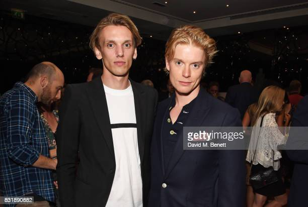 Jamie Campbell Bower and Freddie Fox attend the Raindance Film Festival anniversary drinks reception at The Mayfair Hotel on August 15 2017 in London...