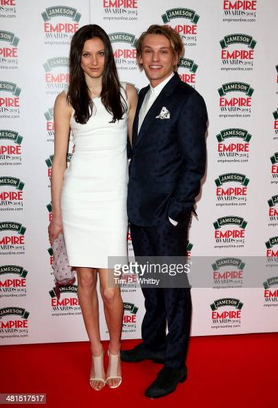 Jamie Campbell Bower and guest attend the Jameson Empire Awards 2014 at the Grosvenor House Hotel on March 30 2014 in London England Regarded as a...