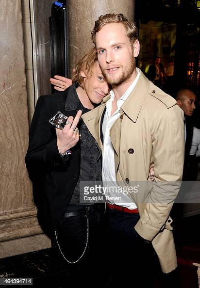 Jamie Campbell Bower and Jack Fox attend The Warner Music Brit Party 2015 at Freemasons Hall on February 25 2015 in London England