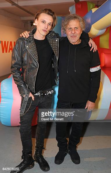 Jamie Campbell Bower and Renzo Rosso attend Diesel Make Love Not Walls Global Event on February 19 2017 in London England