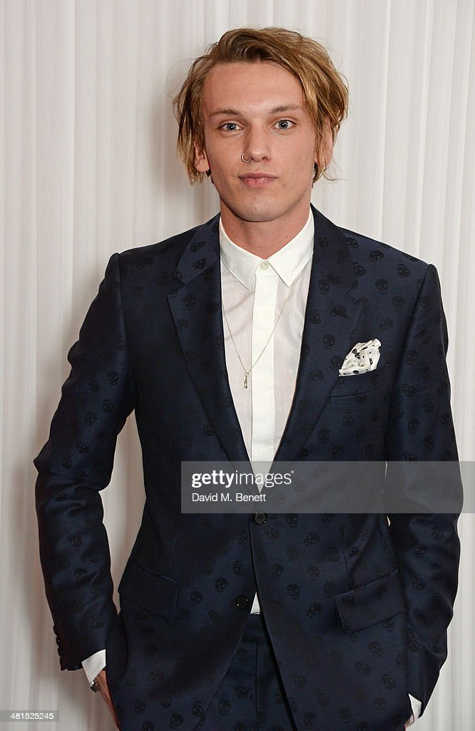 Jamie Campbell Bower arrives at the Jameson Empire Awards 2014 at The Grosvenor House Hotel on March 30, 2014 in London, England.