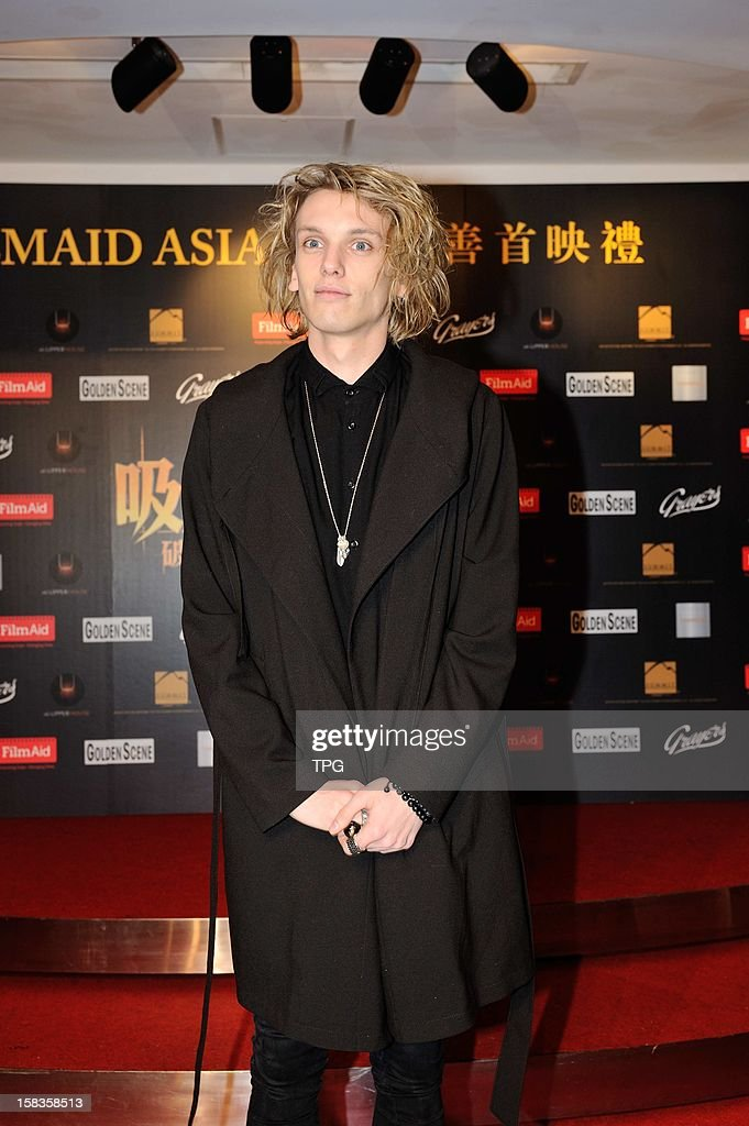 Jamie Campbell Bower attended charity premiere of The Twilight Saga: Breaking Dawn - Part 2 on Wednesday December 12, 2012 in Hong Kong, China.