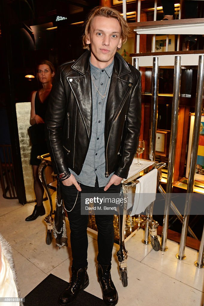Jamie Campbell Bower attends a dinner hosted by PORTER in honour of cover girl Christy Turlington Burns and her charity Every Mother Counts at Mr Chow on November 18, 2014 in London, England.