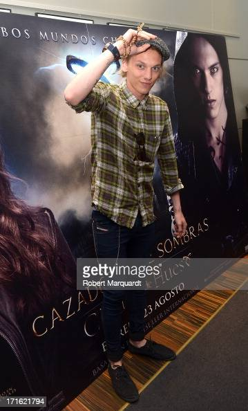 Jamie Campbell Bower attends a presentation of his latest film 'City of Bones' at the Diagonal Mar FNAC store on June 27 2013 in Barcelona Spain