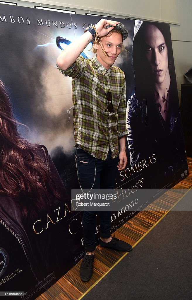 Jamie Campbell Bower attends a presentation of his latest film 'City of Bones' at the Diagonal Mar FNAC store on June 27, 2013 in Barcelona, Spain.
