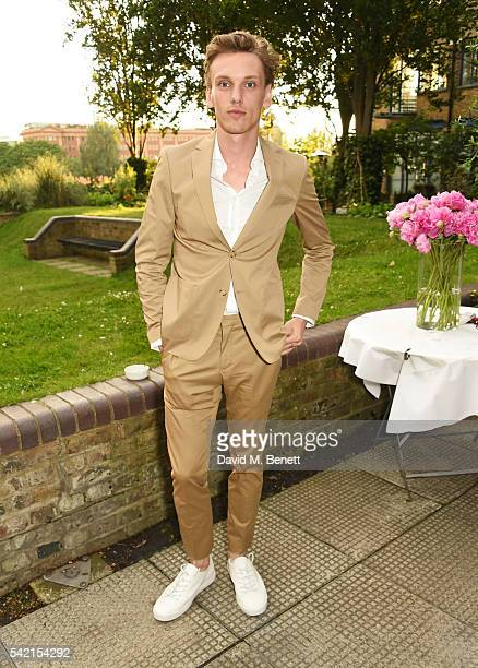 Jamie Campbell Bower attends a private dinner hosted by Michael Kors to celebrate the new Regent Street Flagship store opening at The River Cafe on...