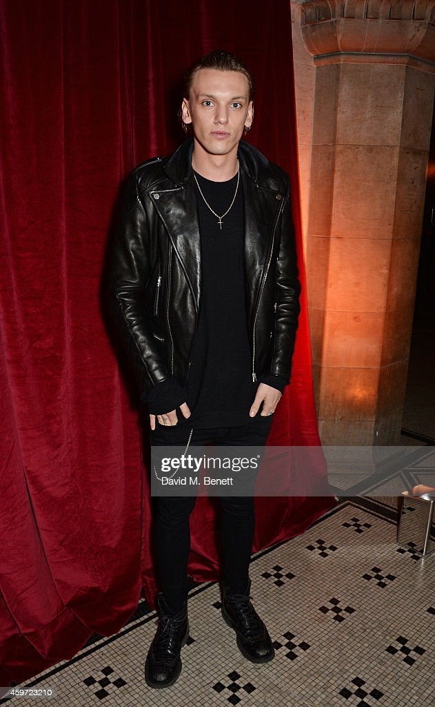 <a gi-track='captionPersonalityLinkClicked' href=/galleries/search?phrase=Jamie+Campbell+Bower&family=editorial&specificpeople=4586724 ng-click='$event.stopPropagation()'>Jamie Campbell Bower</a> attends the British Fashion Awards Nominees' Dinner hosted by Grey Goose at the Soho House Pop-Up on November 29, 2014 in London, England.