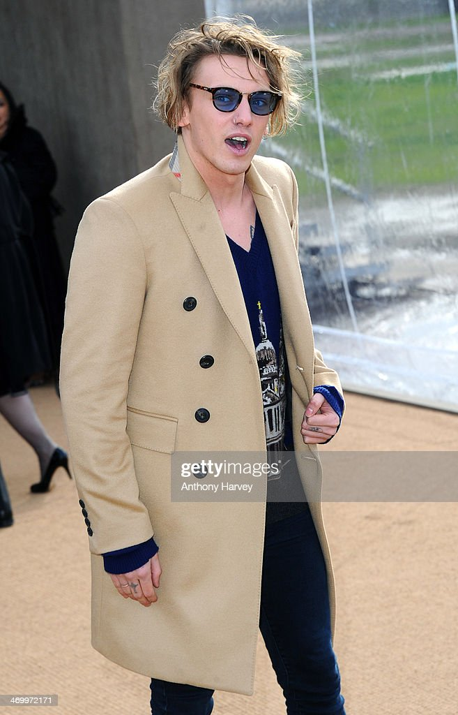 <a gi-track='captionPersonalityLinkClicked' href=/galleries/search?phrase=Jamie+Campbell+Bower&family=editorial&specificpeople=4586724 ng-click='$event.stopPropagation()'>Jamie Campbell Bower</a> attends the Burberry Prorsum show at London Fashion Week AW14 at Kensington Gardens on February 17, 2014 in London, England.