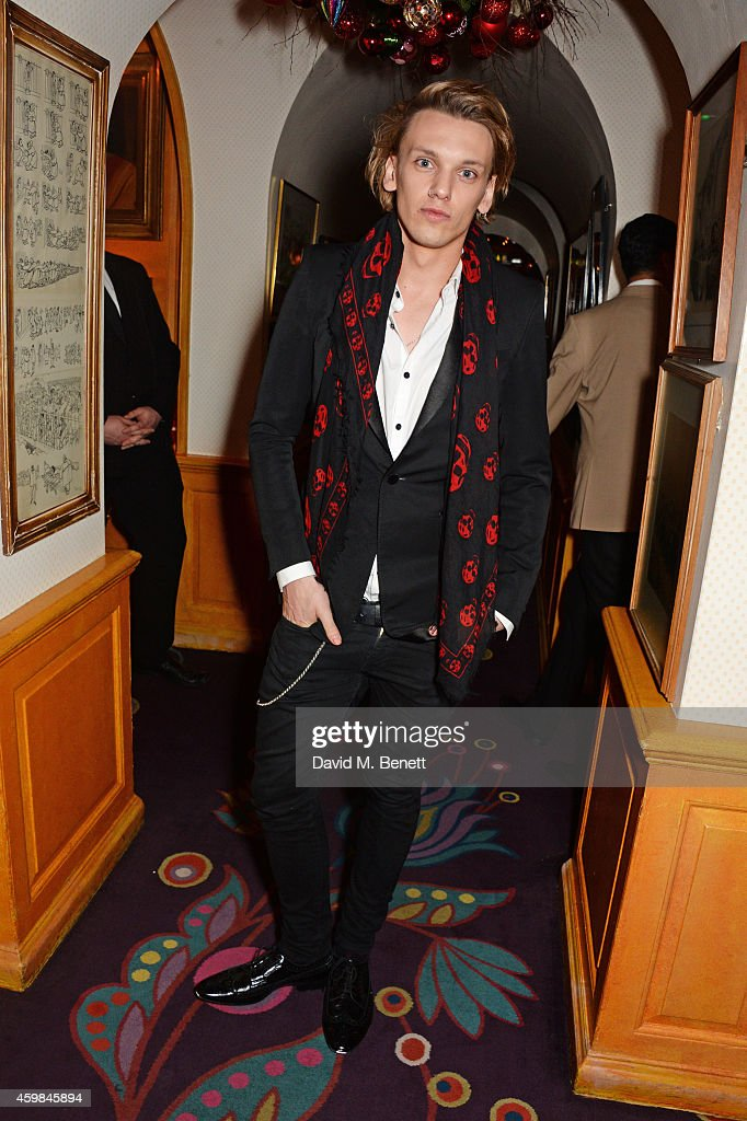 <a gi-track='captionPersonalityLinkClicked' href=/galleries/search?phrase=Jamie+Campbell+Bower&family=editorial&specificpeople=4586724 ng-click='$event.stopPropagation()'>Jamie Campbell Bower</a> attends the Chopard Christmas Party at Annabel's on December 2, 2014 in London, England.