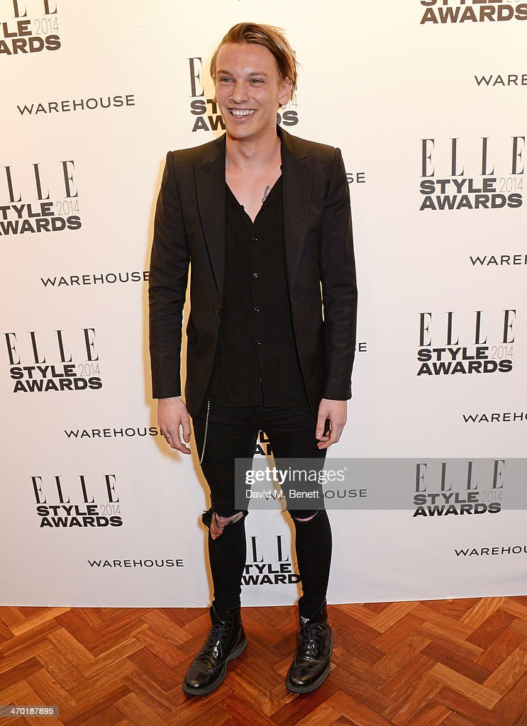 Jamie Campbell Bower attends the Elle Style Awards 2014 at One Embankment on February 18, 2014 in London, England.