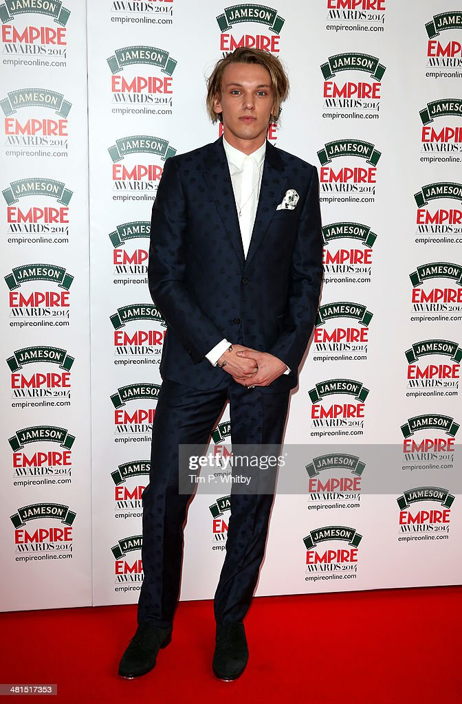 Jamie Campbell Bower attends the Jameson Empire Awards 2014 at the Grosvenor House Hotel on March 30, 2014 in London, England. Regarded as a relaxed end to the awards show season, the Jameson Empire Awards celebrate the film industry's success stories of the year with winners being voted for entirely by members of the public. Visit empireonline.com/awards2014 for more information.