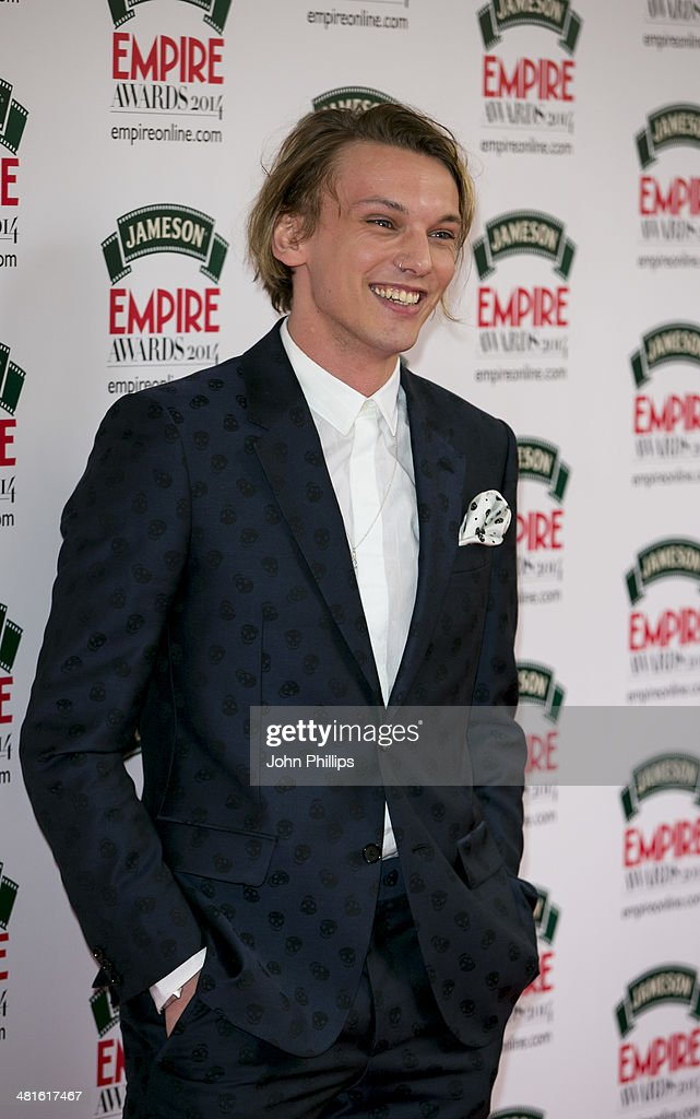 Jamie Campbell Bower attends the Jameson Empire Film Awards at The Grosvenor House Hotel on March 30, 2014 in London, England.