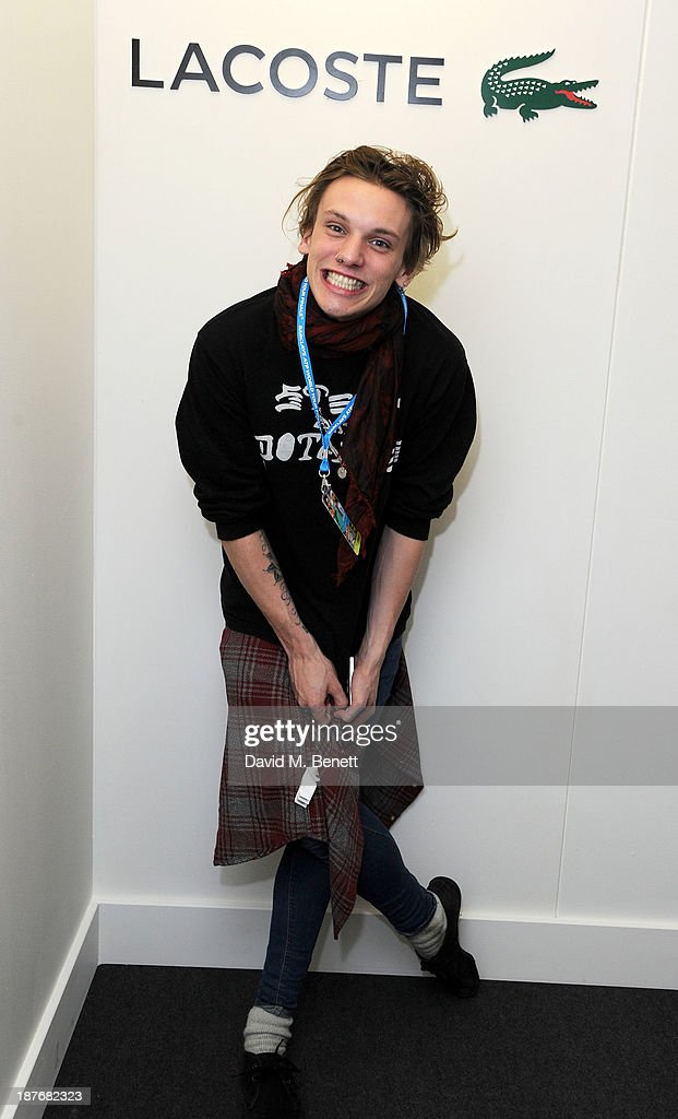 Jamie Campbell Bower attends the Lacoste VIP lounge at ATP World Finals 2013 at 02 Arena on November 11, 2013 in London, England.