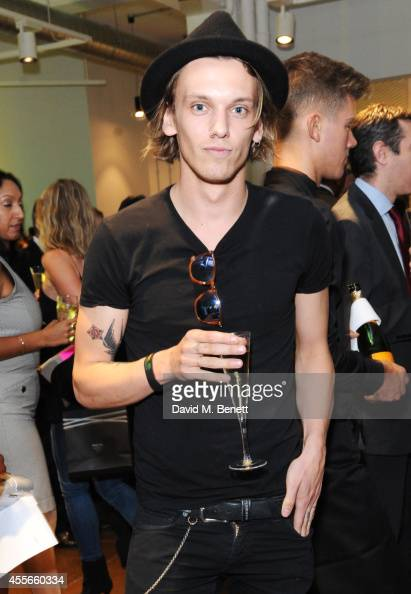 Jamie Campbell Bower attends the launch of Manhattan Loft Gardens Harry Handelsman's newest property on September 18 2014 in London England