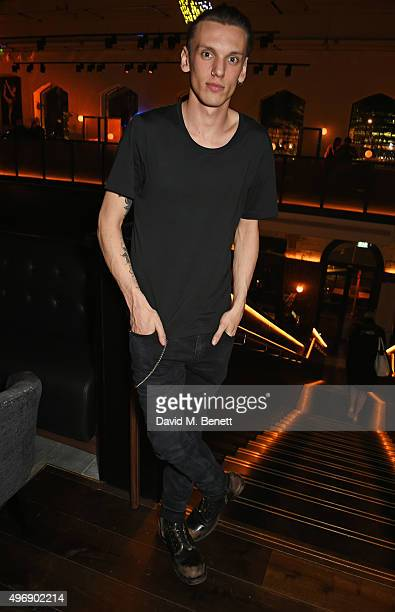 Jamie Campbell Bower attends the launch of new restaurant German Gymnasium on November 12 2015 in London England