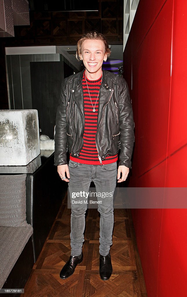 <a gi-track='captionPersonalityLinkClicked' href=/galleries/search?phrase=Jamie+Campbell+Bower&family=editorial&specificpeople=4586724 ng-click='$event.stopPropagation()'>Jamie Campbell Bower</a> attends the launch of the W Republic of Verbier takeover at W London - Leicester Square on October 24, 2013 in London, England.
