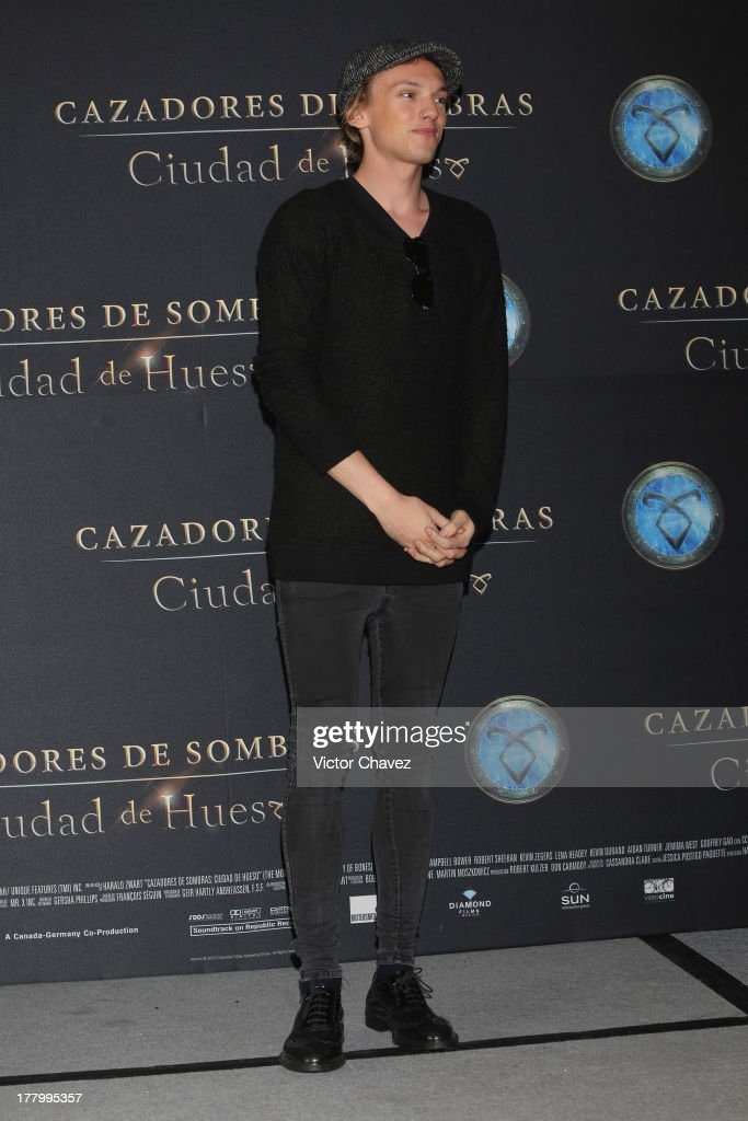 Jamie Campbell Bower attends 'The Mortal Instruments: City of Bones' Mexico City photocall at St Regis Hotel on August 26, 2013 in Mexico City, Mexico.