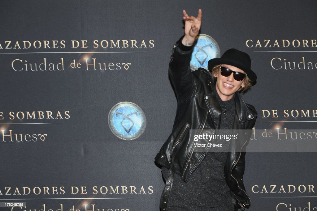 Jamie Campbell Bower attends The Mortal Instruments: City of Bones' Mexico City screening at Auditorio Nacional on August 27, 2013 in Mexico City, Mexico.