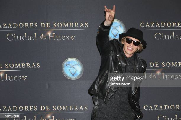 Jamie Campbell Bower attends The Mortal Instruments City of Bones' Mexico City screening at Auditorio Nacional on August 27 2013 in Mexico City Mexico