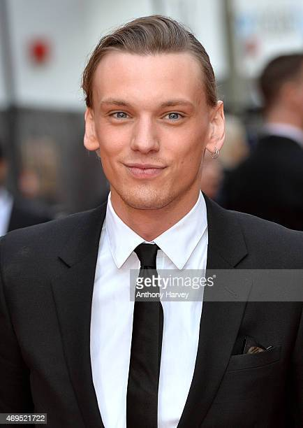 Jamie Campbell Bower attends The Olivier Awards at The Royal Opera House on April 12 2015 in London England