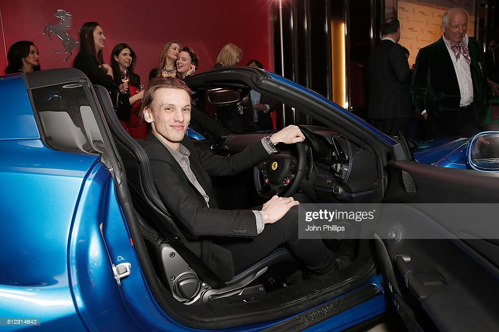 <a gi-track='captionPersonalityLinkClicked' href=/galleries/search?phrase=Jamie+Campbell+Bower&family=editorial&specificpeople=4586724 ng-click='$event.stopPropagation()'>Jamie Campbell Bower</a> attends the UK launch of the Ferrari 488 Spider at Watches of Switzerland on February 25, 2016 in London, England.