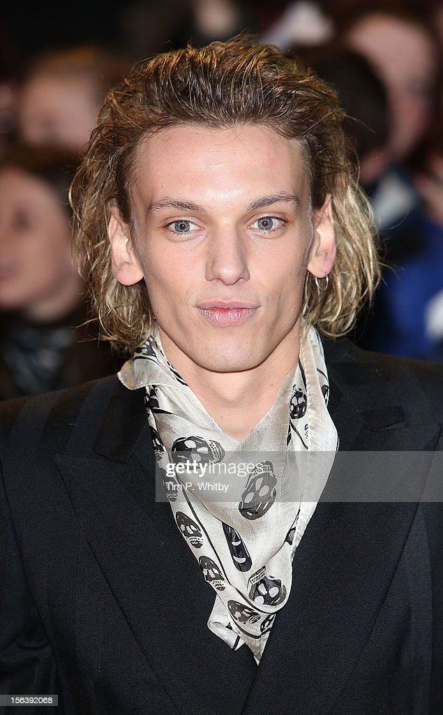 Jamie Campbell Bower attends the UK Premiere of 'The Twilight Saga: Breaking Dawn - Part 2' at Odeon Leicester Square on November 14, 2012 in London, England.