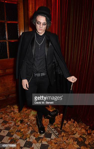 Jamie Campbell Bower attends the Unicef UK Halloween Ball raising vital funds to help protect Syria's children from danger at One Mayfair on October...