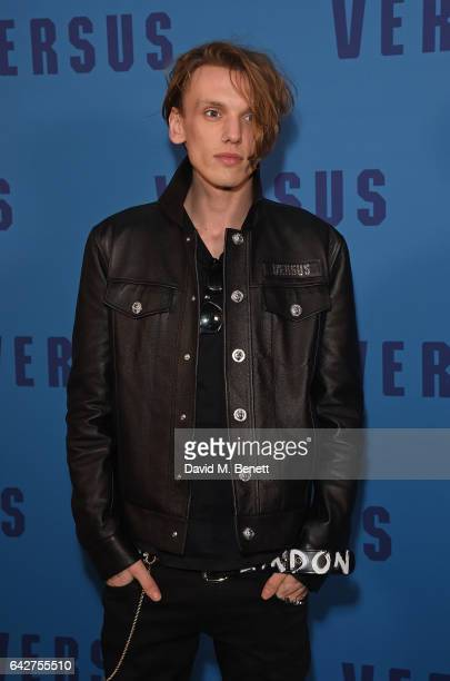 Jamie Campbell Bower attends the VERSUS show during the London Fashion Week February 2017 collections on February 18 2017 in London England