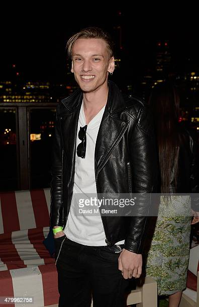 Jamie Campbell Bower attends the Warner Summer Party in association with British GQ at Shoreditch House on July 8 2015 in London England