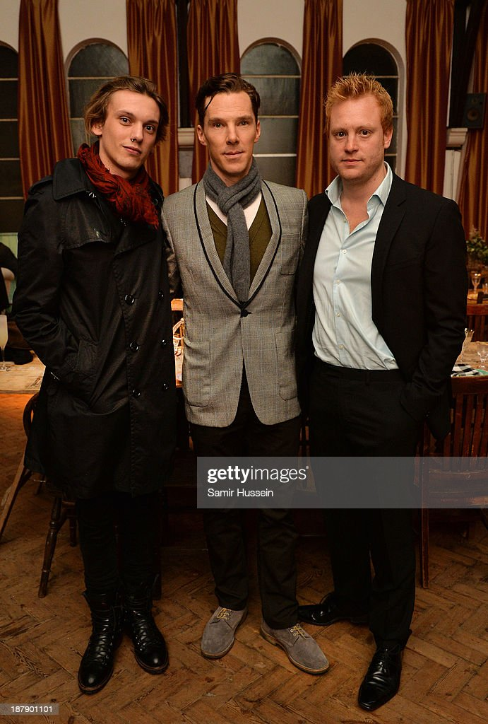 Jamie Campbell Bower, Benedict Cumberbatch and Adam Ackland attend the Soho House and Grey Goose party to celebrate the CineCity film festival on November 13, 2013 in Brighton, England. Guests enjoyed a three course sharing menu prepared by Soho House and Grey Goose cocktails.