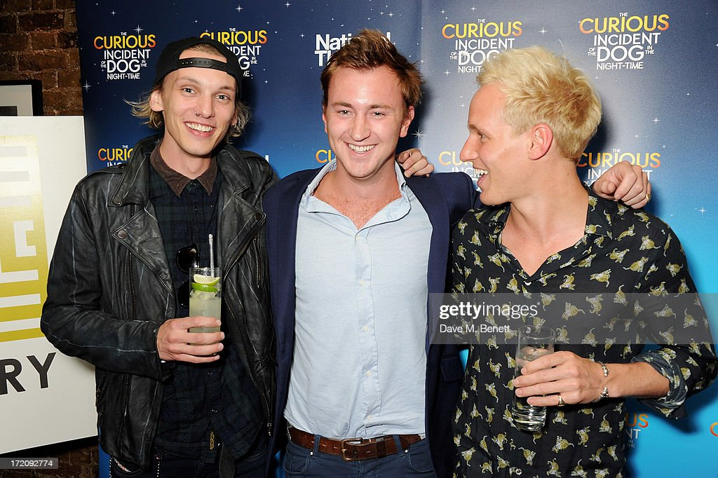 <a gi-track='captionPersonalityLinkClicked' href=/galleries/search?phrase=Jamie+Campbell+Bower&family=editorial&specificpeople=4586724 ng-click='$event.stopPropagation()'>Jamie Campbell Bower</a>, Francis Boulle and Jamie Laing attend an after party following 'A Curious Night at the Theatre', a charity gala evening to raise funds for Ambitious about Autism and The National Autistic Society, at Century Club on July 1, 2013 in London, England.