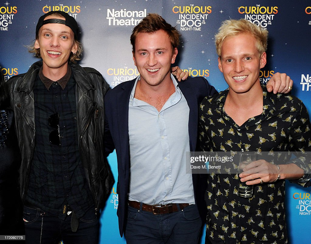Jamie Campbell Bower, Francis Boulle and Jamie Laing attend an after party following 'A Curious Night at the Theatre', a charity gala evening to raise funds for Ambitious about Autism and The National Autistic Society, at Century Club on July 1, 2013 in London, England.