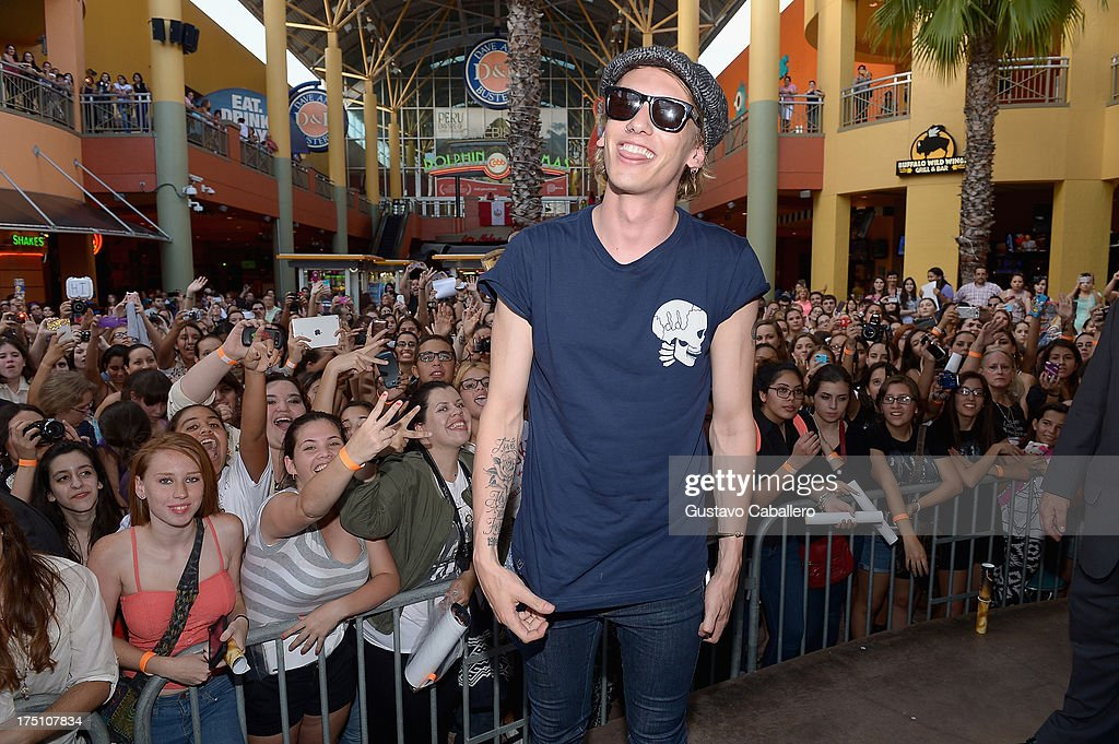 Jamie Campbell Bower of 'The Mortal Instruments' at Dolphin Mall on July 31, 2013 in Miami, Florida.
