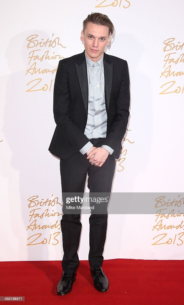Jamie Campbell Bower poses in the winners room at the British Fashion Awards 2013 at London Coliseum on December 2, 2013 in London, England.