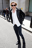 Jamie Campbell Bower seen arriving at the BBC Radio 2 Studios on June 1 2015 in London England