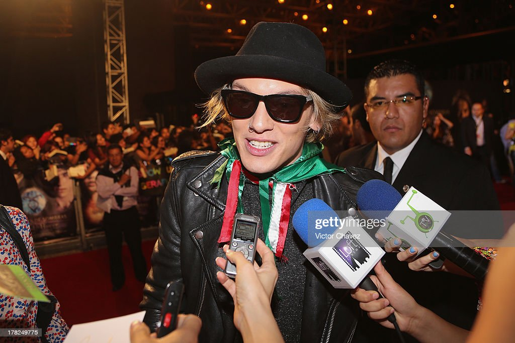 Jamie Campbell Bower speaks with the media during The Mortal Instruments: City of Bones' Mexico City screening at Auditorio Nacional on August 27, 2013 in Mexico City, Mexico.