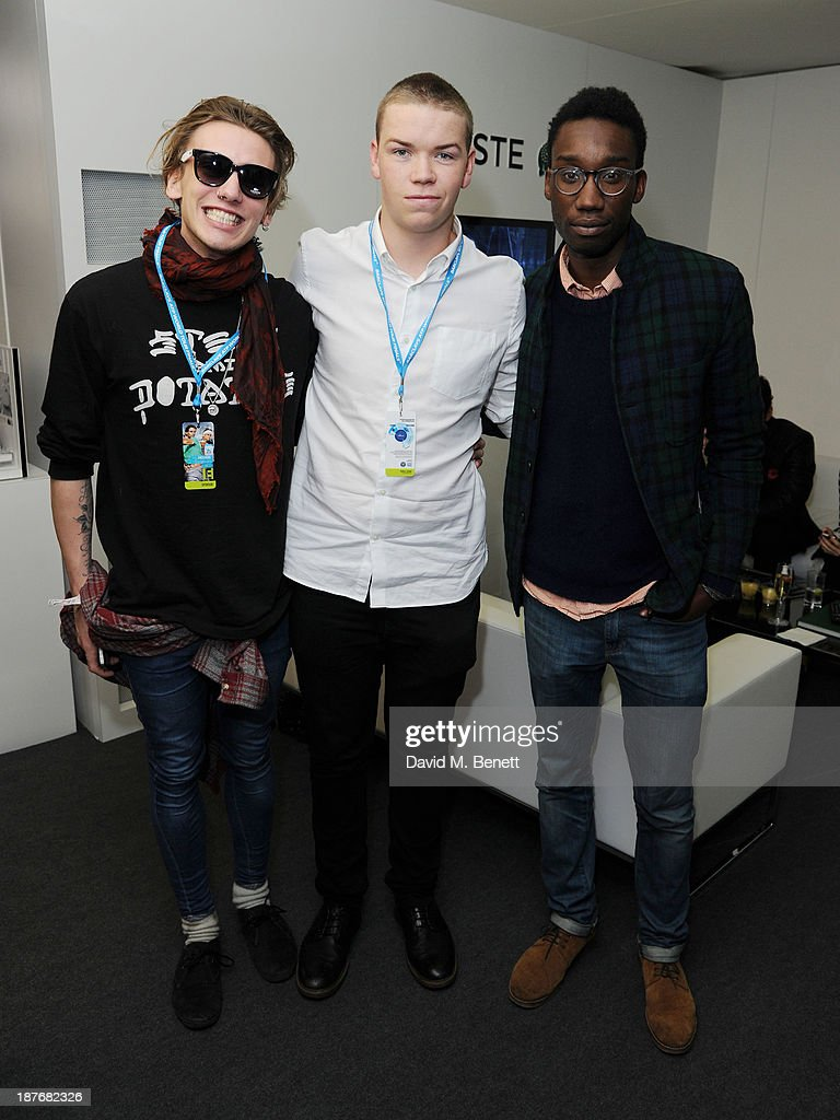 Jamie Campbell Bower, Will Poulter and NathanStewart Jarret attend the Lacoste VIP lounge at ATP World Finals 2013 at 02 Arena on November 11, 2013 in London, England.