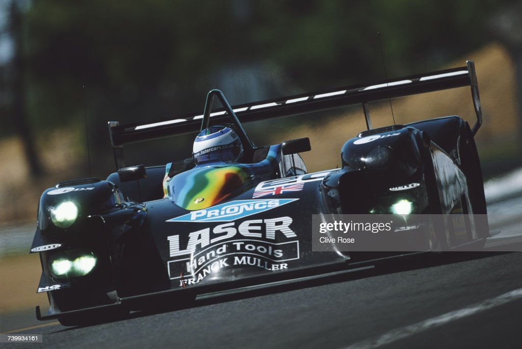Jamie Campbell-Walter of Great Britain drives the #20 Lister Racing Lister Storm LMP900 V8 during the pre race test days for the FIA World Sportscar Championship 24 Hours of Le Mans on 4 May 2003 at the Circuit de la Sarthe, Le Mans, France.