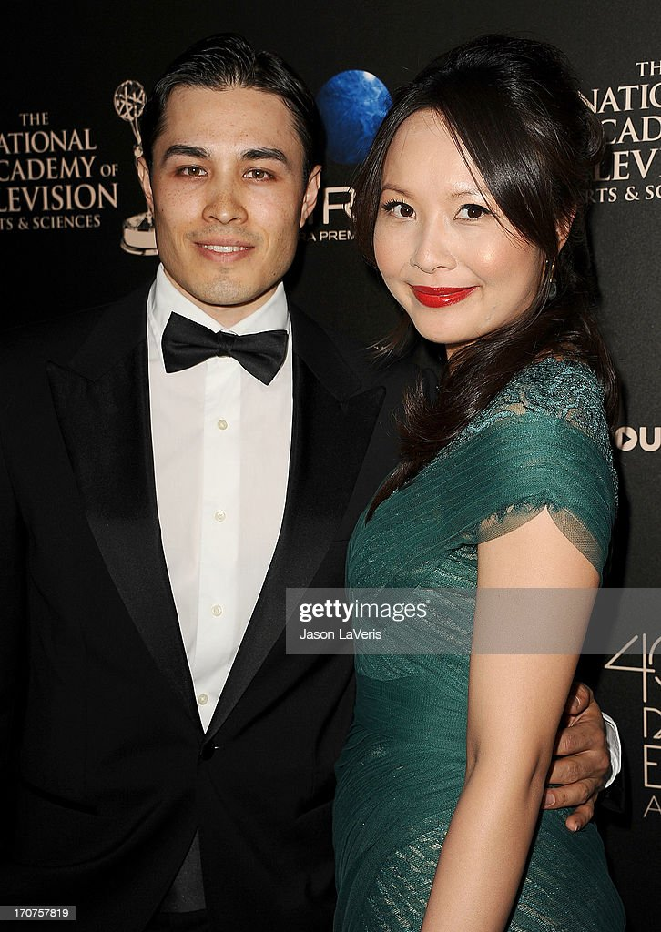 Jamie Cho (L) and Ching He Huang attend the 40th annual Daytime Emmy Awards at The Beverly Hilton Hotel on June 16, 2013 in Beverly Hills, California.