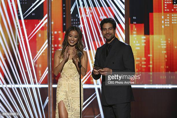 Jamie Chung Adam Rodriguez during the PEOPLE'S CHOICE AWARDS 2017 the only major awards show where fans determine the nominees and winners across...