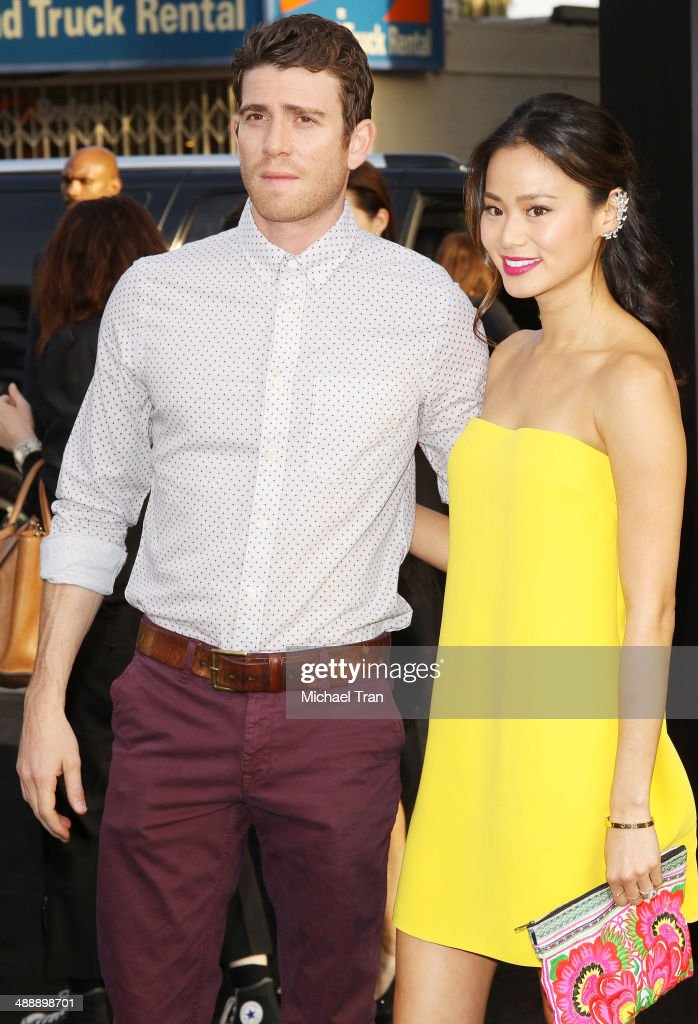 <a gi-track='captionPersonalityLinkClicked' href=/galleries/search?phrase=Jamie+Chung&family=editorial&specificpeople=4145549 ng-click='$event.stopPropagation()'>Jamie Chung</a> and <a gi-track='captionPersonalityLinkClicked' href=/galleries/search?phrase=Bryan+Greenberg&family=editorial&specificpeople=2135761 ng-click='$event.stopPropagation()'>Bryan Greenberg</a> arrive at the Los Angeles premiere of 'Godzilla' held at Dolby Theatre on May 8, 2014 in Hollywood, California.