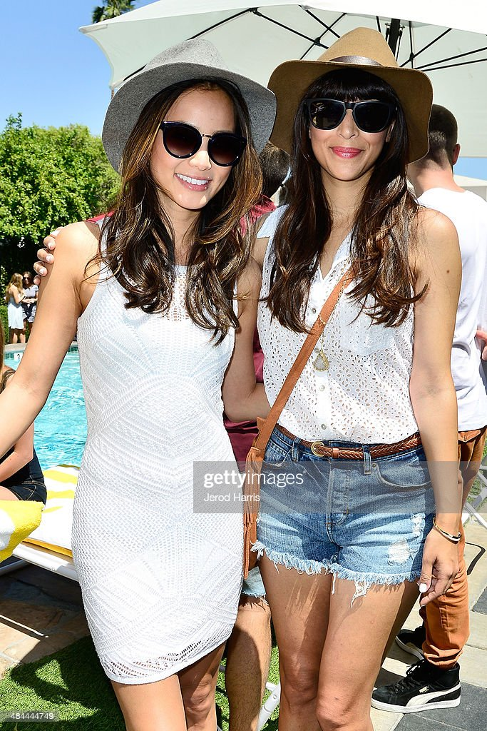 <a gi-track='captionPersonalityLinkClicked' href=/galleries/search?phrase=Jamie+Chung&family=editorial&specificpeople=4145549 ng-click='$event.stopPropagation()'>Jamie Chung</a> and <a gi-track='captionPersonalityLinkClicked' href=/galleries/search?phrase=Hannah+Simone&family=editorial&specificpeople=3291351 ng-click='$event.stopPropagation()'>Hannah Simone</a> attend the GUESS Hotel at the Viceroy Palm Springs on April 12, 2014 in Palm Springs, California.