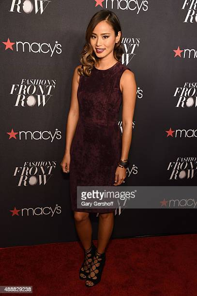 Jamie Chung appears at Macys Presents Fashions Front Row Arrivals wearing the new Samsung Gear S2 at The Theater at Madison Square Garden on...