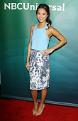 Jamie Chung arrives at the NBC/Universal 2014 TCA Winter press tour held at The Langham Huntington Hotel and Spa on January 19 2014 in Pasadena...