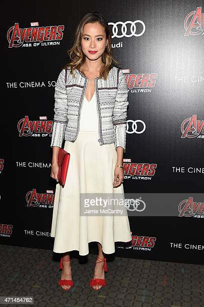 Jamie Chung attend The Cinema Society Audi screening of Marvel's 'Avengers Age of Ultron' at SVA Theater on April 28 2015 in New York City
