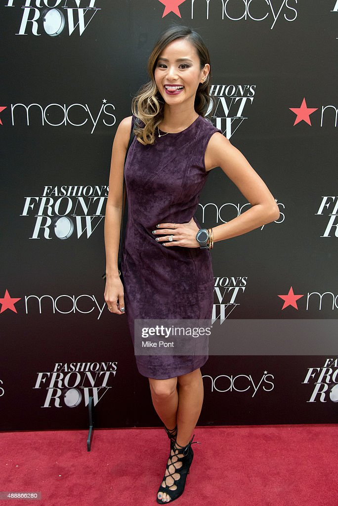 Jamie Chung attends Fashion's Front Row after party during Spring 2016 New York Fashion Week at Macy's Herald Square on September 17 2015 in New York...