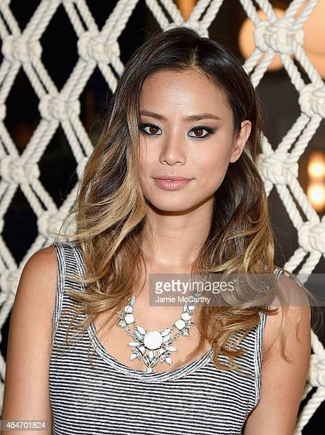 Jamie Chung attends the Gant Rugger presentation during MercedesBenz Fashion Week Spring 2015 at Maritime Hotel on September 5 2014 in New York City