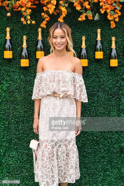 Jamie Chung attends The Tenth Annual Veuve Clicquot Polo Classic Arrivals at Liberty State Park on June 3 2017 in Jersey City New Jersey